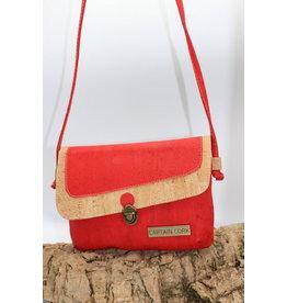 Captain Cork VEERLE - The corky red shoulder bag / Captain Cork Label