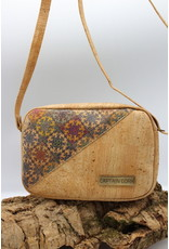 Captain Cork STELLA - Cork shoulder bag with amazing Azulejo print