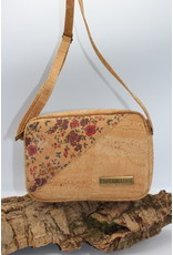 Captain Cork STELLA - Cork shoulder bag with amazing floral print