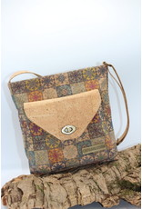 Captain Cork PHILIPPA - Cork Shoulder bag with ancient Azulejo print