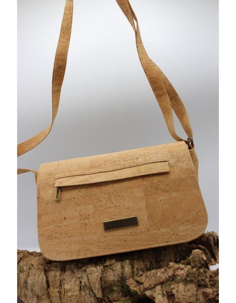 Captain Cork BRITTA - Double stylish cork shoulder bag natural