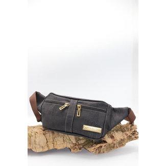 Captain Cork IMKE- Cool Cork Belt Bag in dark brown