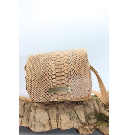 Captain Cork INDRA - alligator cork shoulder bag
