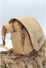 Captain Cork INDRA - alligator cork shoulder bag