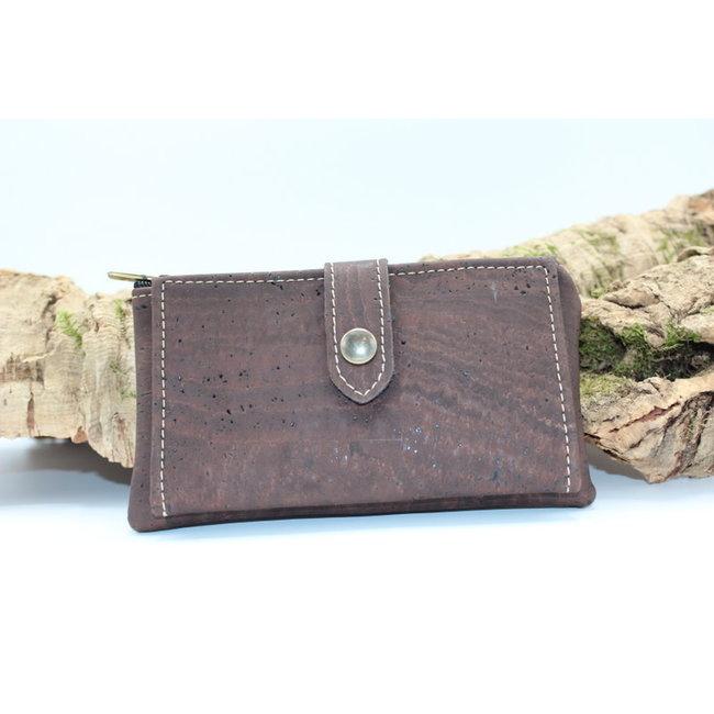 ELISE - de compacte kurken portefeuille bruin