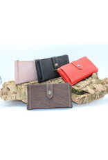 Captain Cork ELISE the compact cork wallet red
