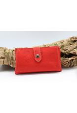 Captain Cork ELISE - de compacte kurken portefeuille rood