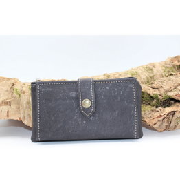 Captain Cork ELISE - the compact cork wallet black