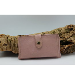 Captain Cork ELISE the compact cork wallet pink