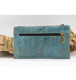 Captain Cork FINN - Fancy documenten houder turquoise