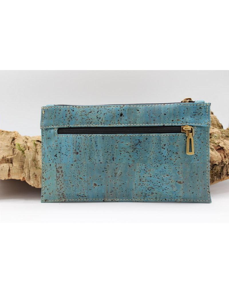 Captain Cork FINN - Fancy documenten houder turquoise