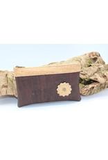 Captain Cork MAYA - het mooie tasje met bloem in bruin
