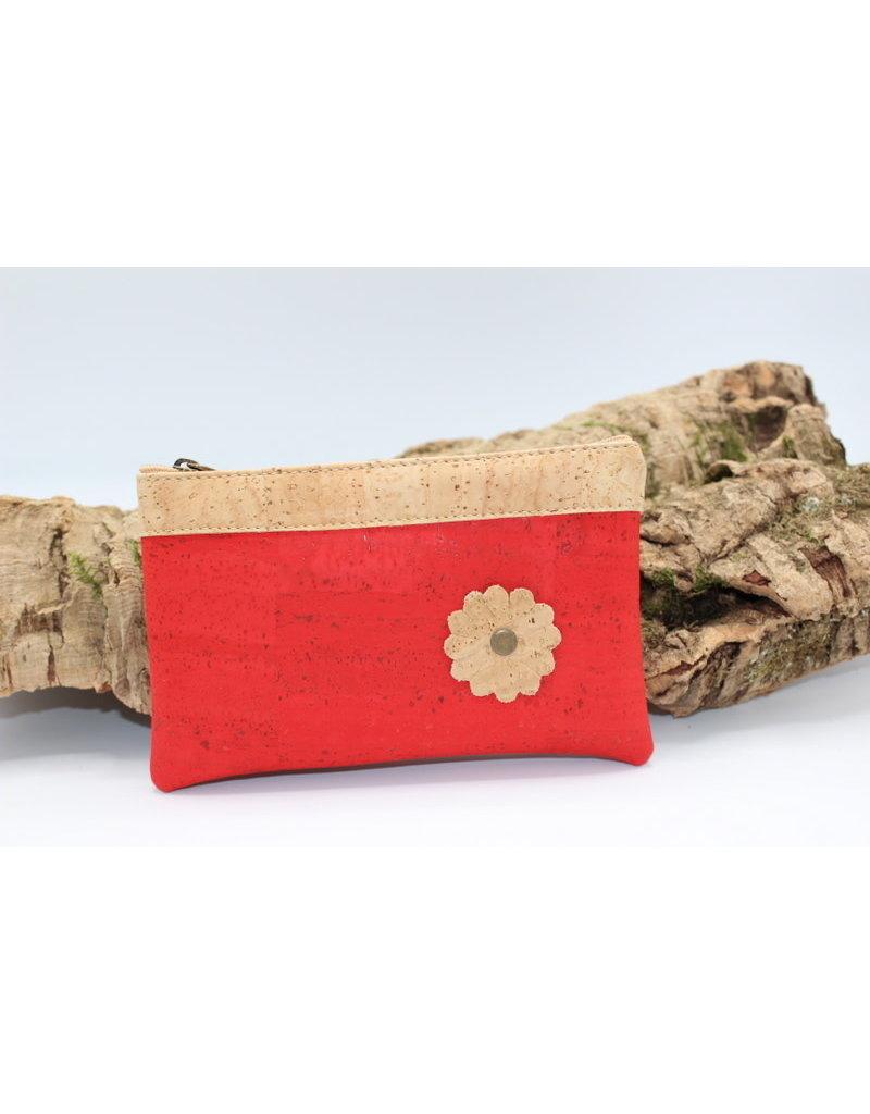 Captain Cork MAYA - het mooie tasje met bloem in rood