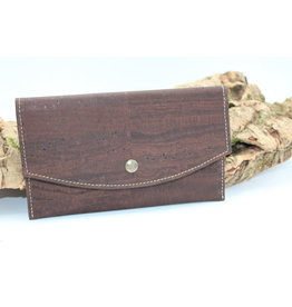 Captain Cork MARCIA - Trendy envelop wallet brown