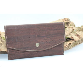 Captain Cork MARCIA - Trendy envelope portefeuille donkerbruin