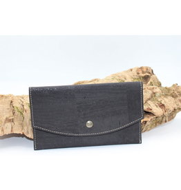 Captain Cork MARCIA - Trendy envelop wallet black
