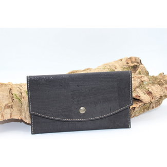 Captain Cork MARCIA - Trendy CORKY envelop wallet black