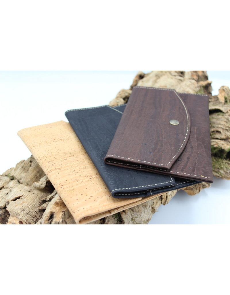 Captain Cork MARCIA - Trendy envelop wallet black