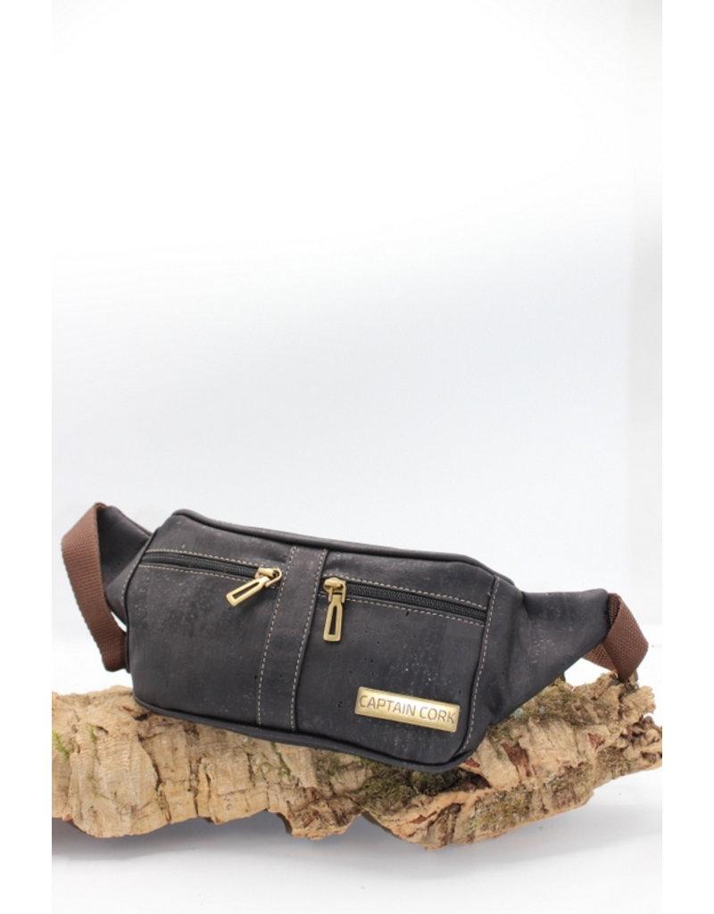 Captain Cork IMKE- Cool Cork Belt Bag in black