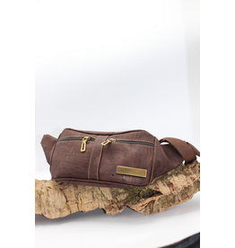 Captain Cork IMKE- Cool Cork Belt Bag in dark brown
