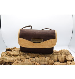 Captain Cork MEREL- The corky shoulder bag in brown / Captain Cork Label