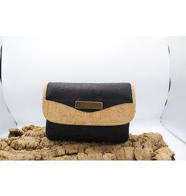 Captain Cork MEREL- The corky shoulder bag in black/ Captain Cork Label