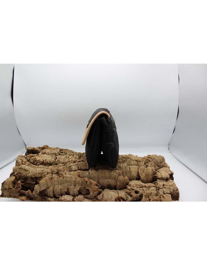 Captain Cork MEREL- The corky shoulder bag in black
