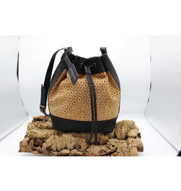 Captain Cork ANAIS - Beauty Buckle Bag met geweven patroon