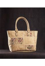 Captain Cork ELEONORA - Amazing cork Tote bag with floral pattern