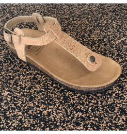 Captain Cork Sandal out of cork natural closed