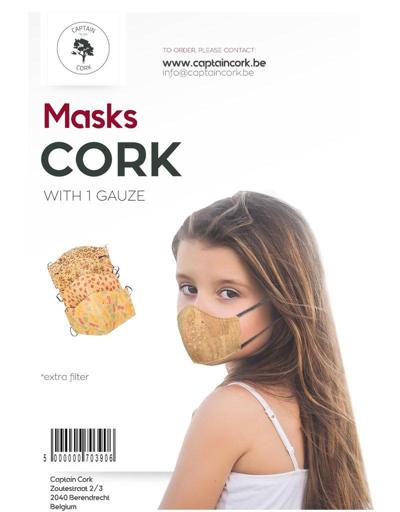 Captain Cork KINDEREN Ananas Mondmasker FILTER uit KURK