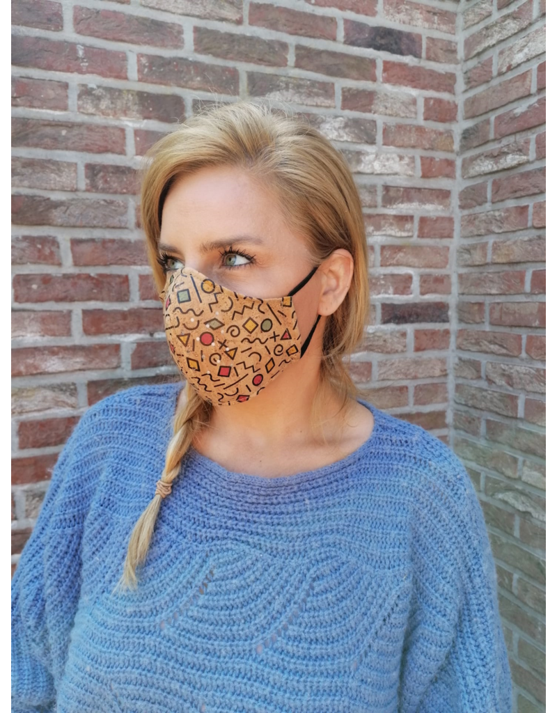 Captain Cork ECLECTIC PRINT Mask Next Generation  Cork with 2 filters/ gauzes