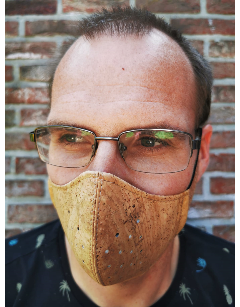 Captain Cork BROWN Mouth mask Next Generation out of cork