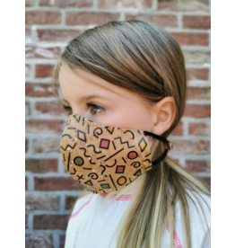 Cork Mouth Mask Children Next Generation PLUS extra cotton filter WITH PRINT