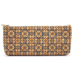 AZULEJO YELLOW- Pencil case out of CORK