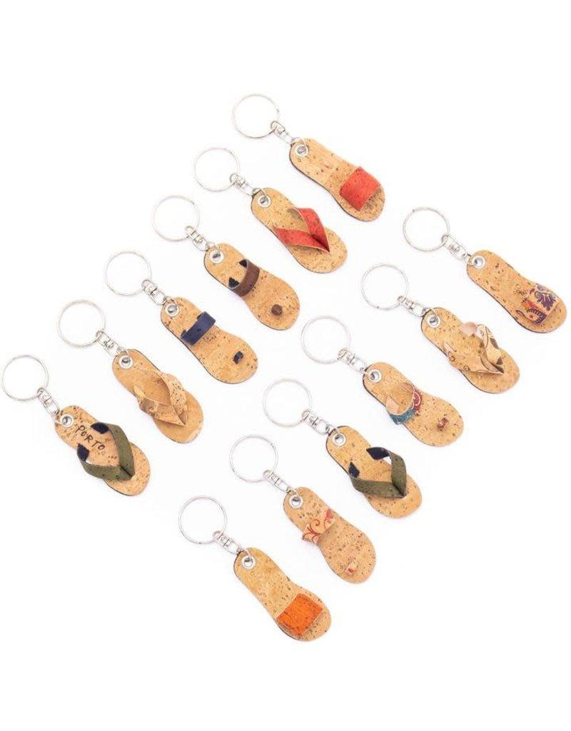 FLIP FLOP -  Cork Keychain