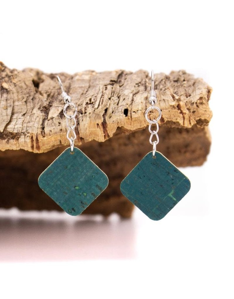 Captain Cork SQUARE - earrings out of cork