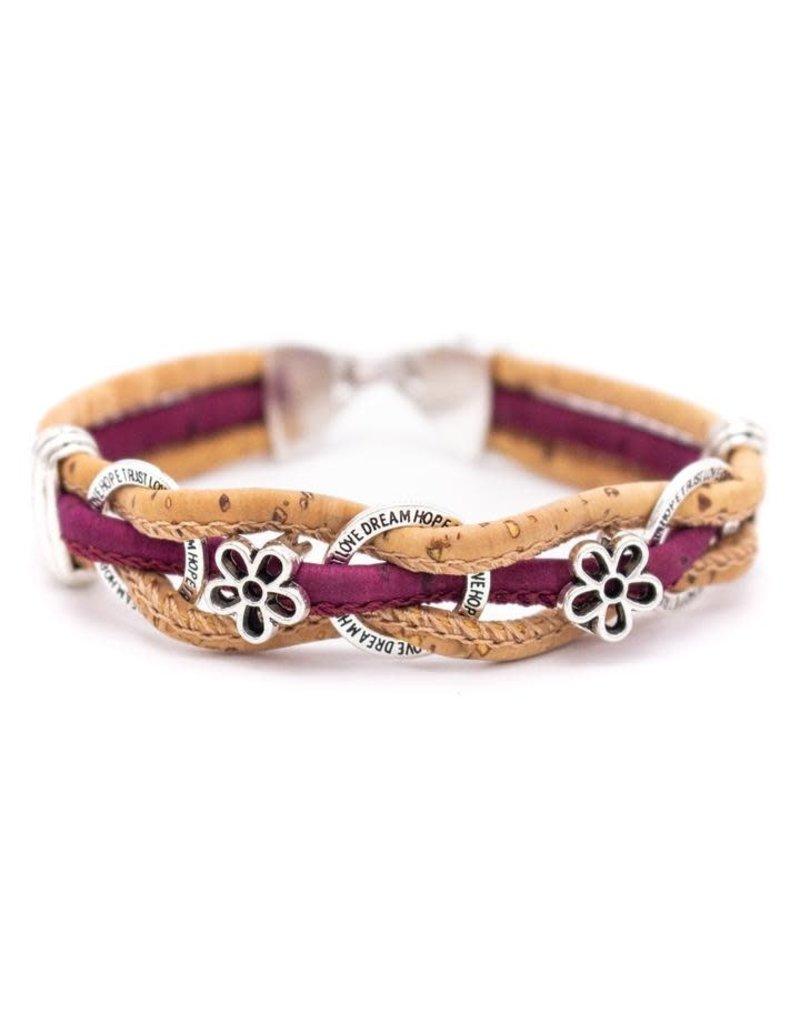Captain Cork LOVE TRUST - bracelet out or cork