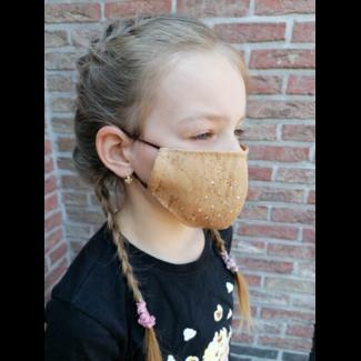 KURKEN Mondmaskers FAMILIE PAKKET (2 Volwassenen en 3 kinderen) 5 maskers en 5 bruggetjes( VOORDEEL VAN 15) euro)