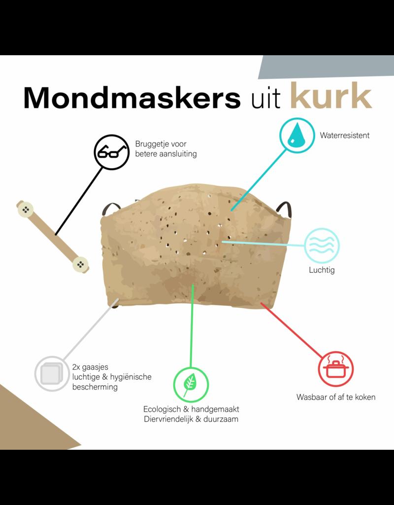 Captain Cork Plastic Bruggetje voor Mondmasker