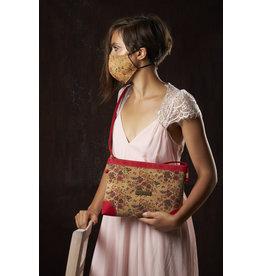 Captain Cork LORE - Romantic shoulder bag with tiny flowers and red details/Captain Cork Label
