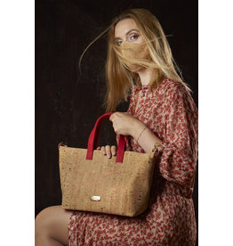 Captain Cork PAULINE - Stylish lady bag with red strap