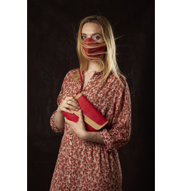 Captain Cork MEREL- The corky shoulder bag in deep red / Captain Cork Label