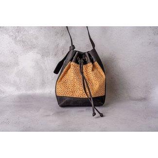 Captain Cork ANAIS - KURKEN Beauty Buckle Bag met geweven patroon