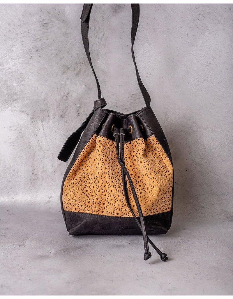 Captain Cork ANAIS - Beauty Buckle Bag met geweven patroon