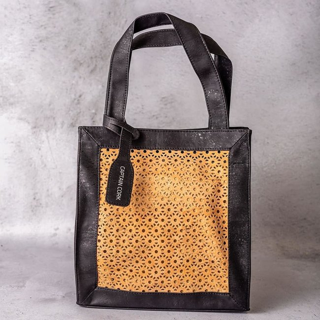 Captain Cork ANAÏS - Cork tote bag with woven pattern