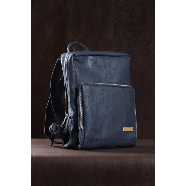 Captain Cork SAM - Business Laptop Back Pack NAVY BLUE