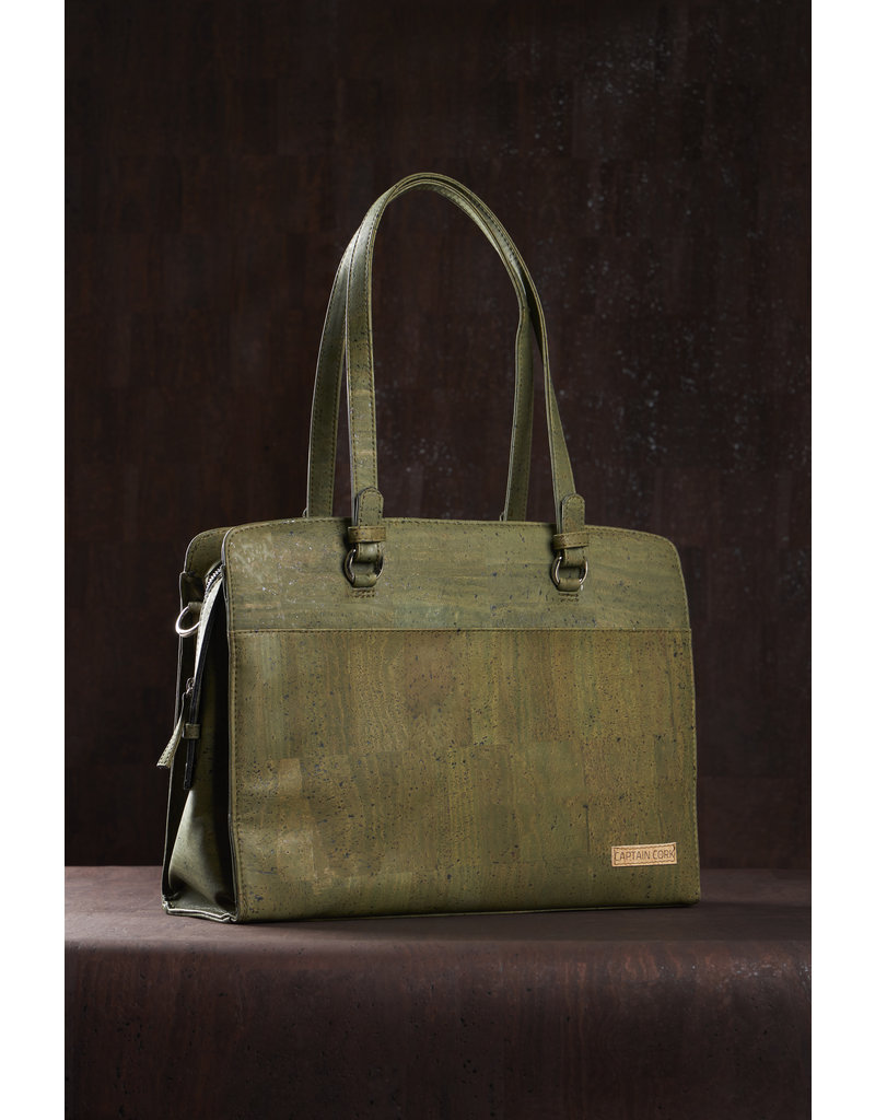 Captain Cork DOMINIQUE - Laptop Business Tas ARMY GREEN