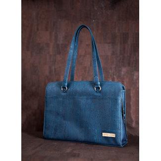 Captain Cork DOMINIQUE_NAVY BLUE_CORK laptop bag