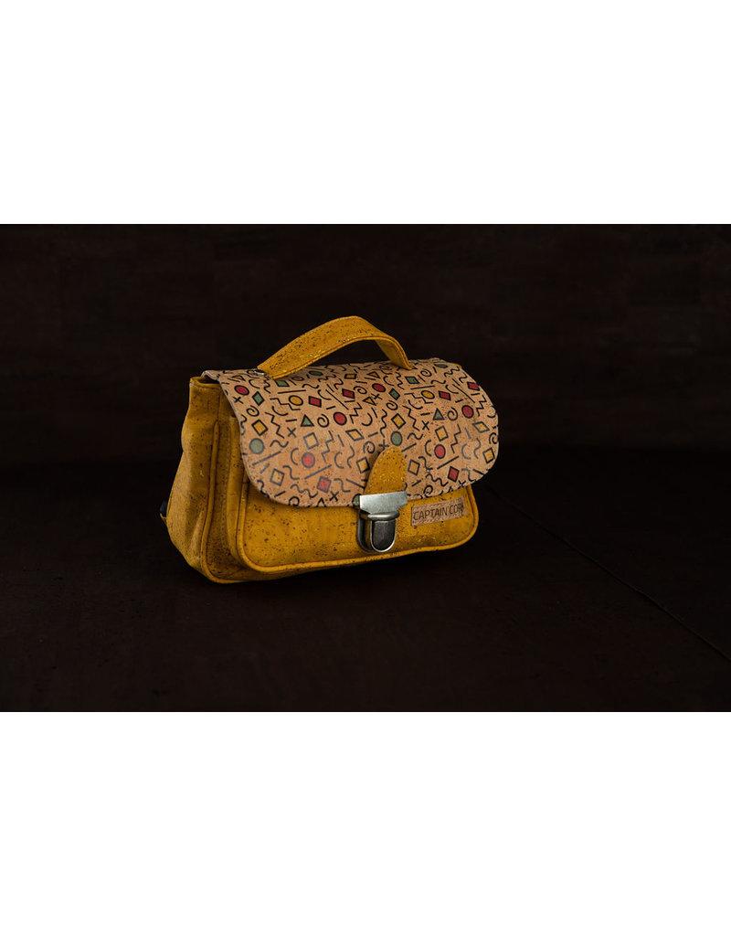Captain Cork ASTOR - Cork school Bag YELLOW